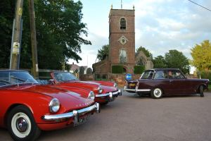 St. Peter's Church provided the backdrop for our cars.